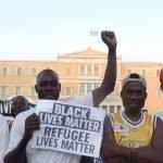 Protesty za azylové právo a také na podporu hnutí proti rasismu © Proto Thema, Atény 2020