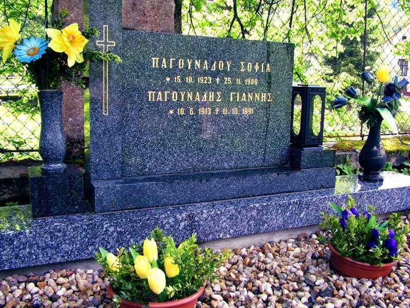 Pomník učitele Pagunadise a jeho manželky Sofie na hřbitůvku v Horním Údolí © foto I. Hlavatý