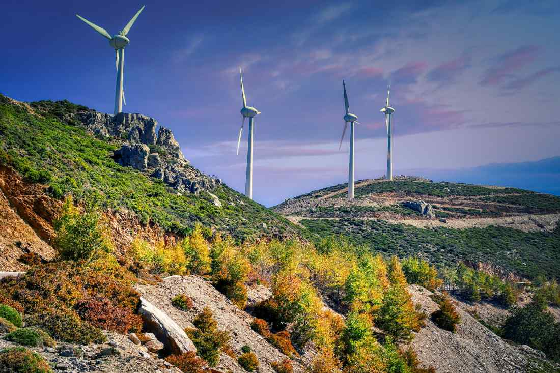 řecko větrné elektrárny